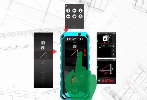 Entfernungsmesser Conrad : Hersch laser entfernungsmesser lem 50 mit bluetooth ip65 und ni mh