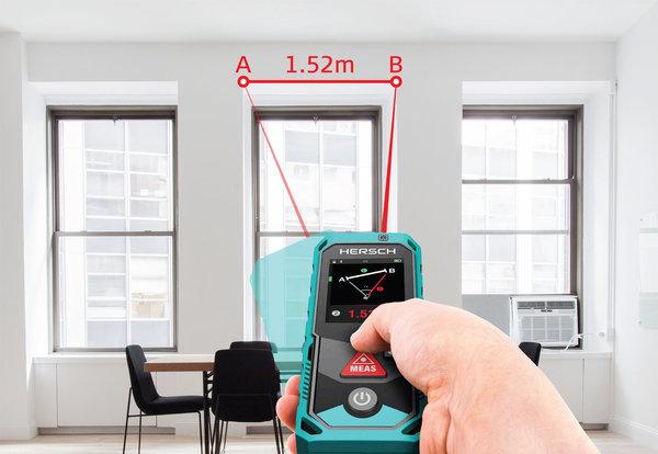 Laser Entfernungsmesser Mit Akku : Hersch laser entfernungsmesser lem 100 mit bluetooth ip65 und ni mh