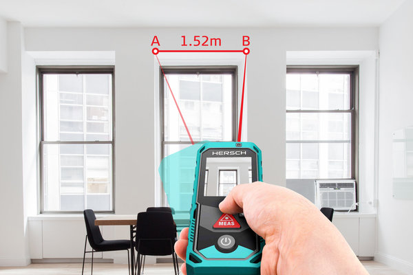 Hersch laser entfernungsmesser lem 150 mit digitaler kamera