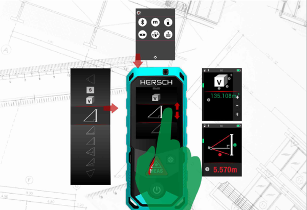 Entfernungsmesser Mit Winkelmessung : Hersch laser entfernungsmesser lem 150 mit digitaler kamera